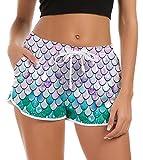 Fanient Damen Sommer Schnell Trocknendes Schwimmen Shorts Bikini Shorts Neuheit Mermaid Pyjamas...