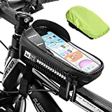 DONYA Bolsa Manillar Bicicleta Impermeable con Ventana para Pantalla Táctil Deporte al Aire Libre Bolsa Bicicleta Manillar Adecuado para iPhone Samsung y Otros Teléfonos Inteligentes