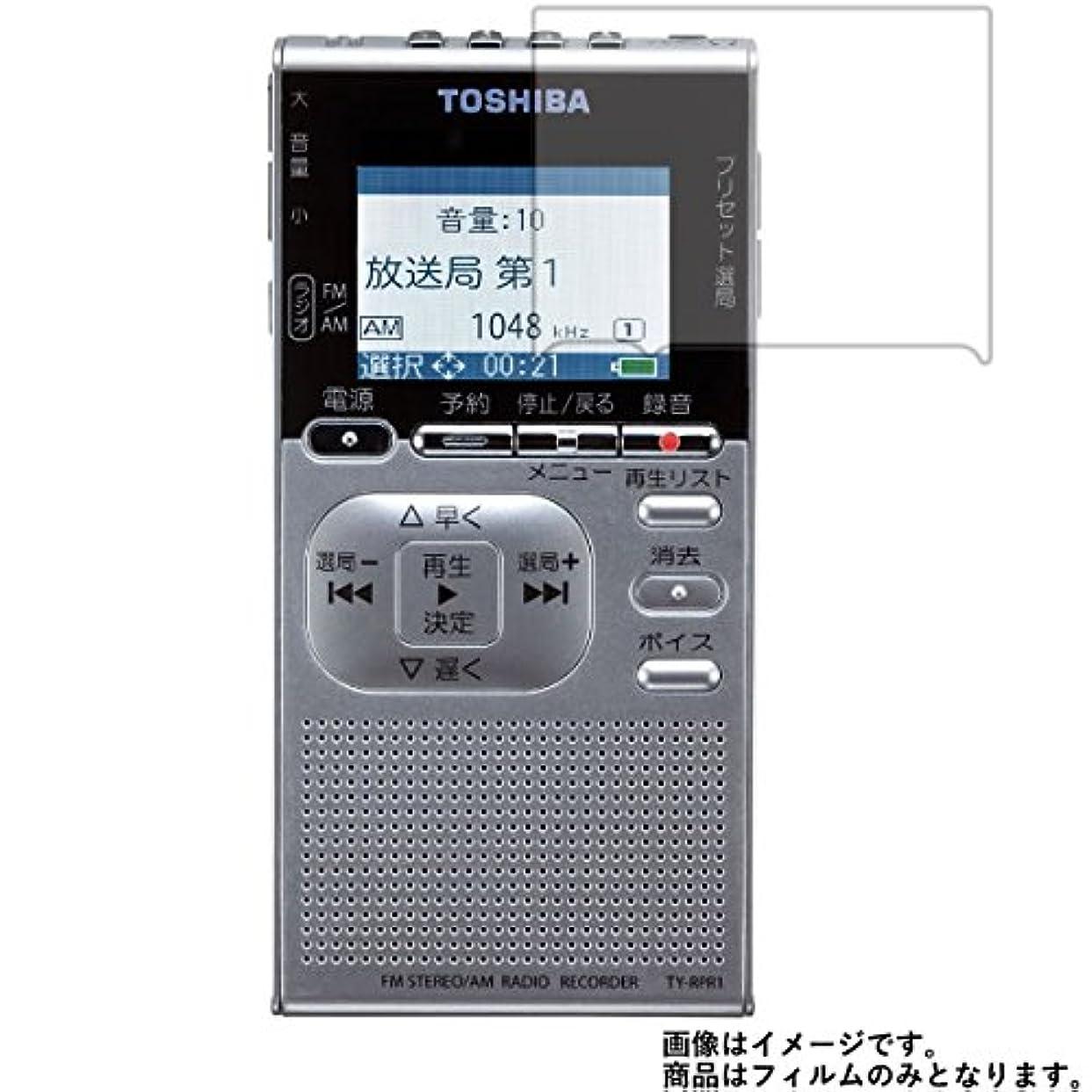 ストッキング素人同僚Toshiba TY-RPR1 用【反射防止ノンフィラータイプ】液晶保護フィルム ギラツキなし