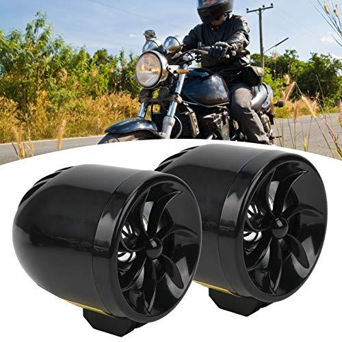 Sistema antirrobo de motocicleta, reproductor de MP3 Altavoces de motocicleta Altavoces de motocicleta Motor Radio FM Altavoz de motocicleta para motocicleta(black)