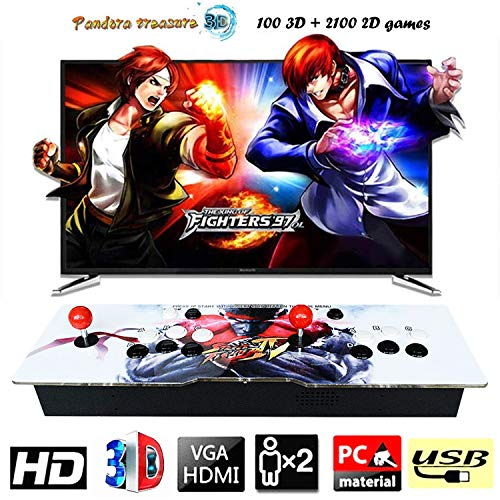 888Warehouse - Brand New 2019 Pandora's Box 9S 1080P With 2,200 3D & 2D Games in 1 Retro Video Games, Comes With Double Stick Arcade Console, Supports HDMI and VGA Output for TV and PC