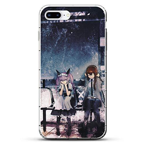 Easterm Transparent Soft Silicone Gel Edge Flexible Case Coque for Apple iPhone 7 Plus/8 Plus, Steins-Gate Kurisu-Rintarou 3