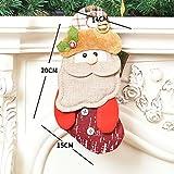 Decoraciones navideñas Hombre Viejo Muñeco de Nieve Ciervo Árbol de Navidad Colgante Bolsa de Regalo Bolsa de Regalo Calcetines Arreglo de Centro Comercial Gorras Bufanda Calcetines para Ancianos