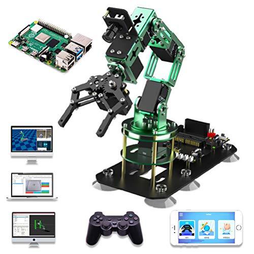 Anan Roboterarm-Set, 6-DOF, programmierbar, Roboter-Arm, Raspberry Pi 4B, Videokontrolle FPV HD, intelligentes Tri-Abfall, für Kinder und Erwachsene mit Tutorial