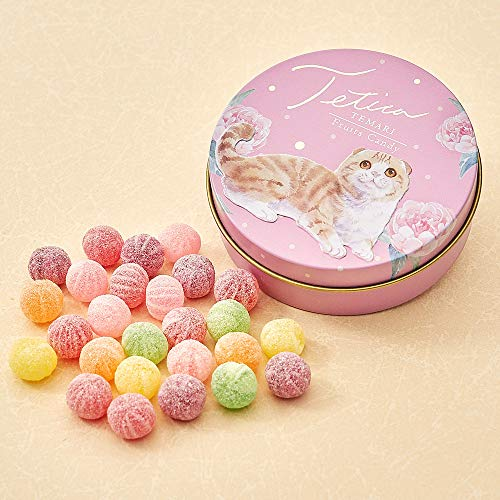 テチカ TETICA てまりキャンディ缶 スコティッシュフォールド