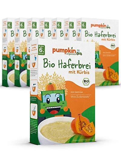 Bio Haferbrei mit Kürbis (8x200g)   Pumpkin Organics