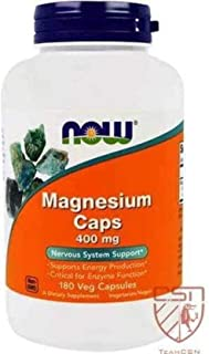 Now Magnesium Caps 400 mg - 180 Capsules
