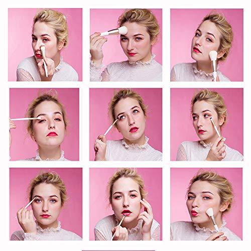 MSQメークブラシ10本セット化粧ブラシセット人気メイクブラシ化粧筆化粧ブラシパウダーファンデーションアイシャドーブラシ高品質化粧ポーチ付き、旅行と贈り物に最適
