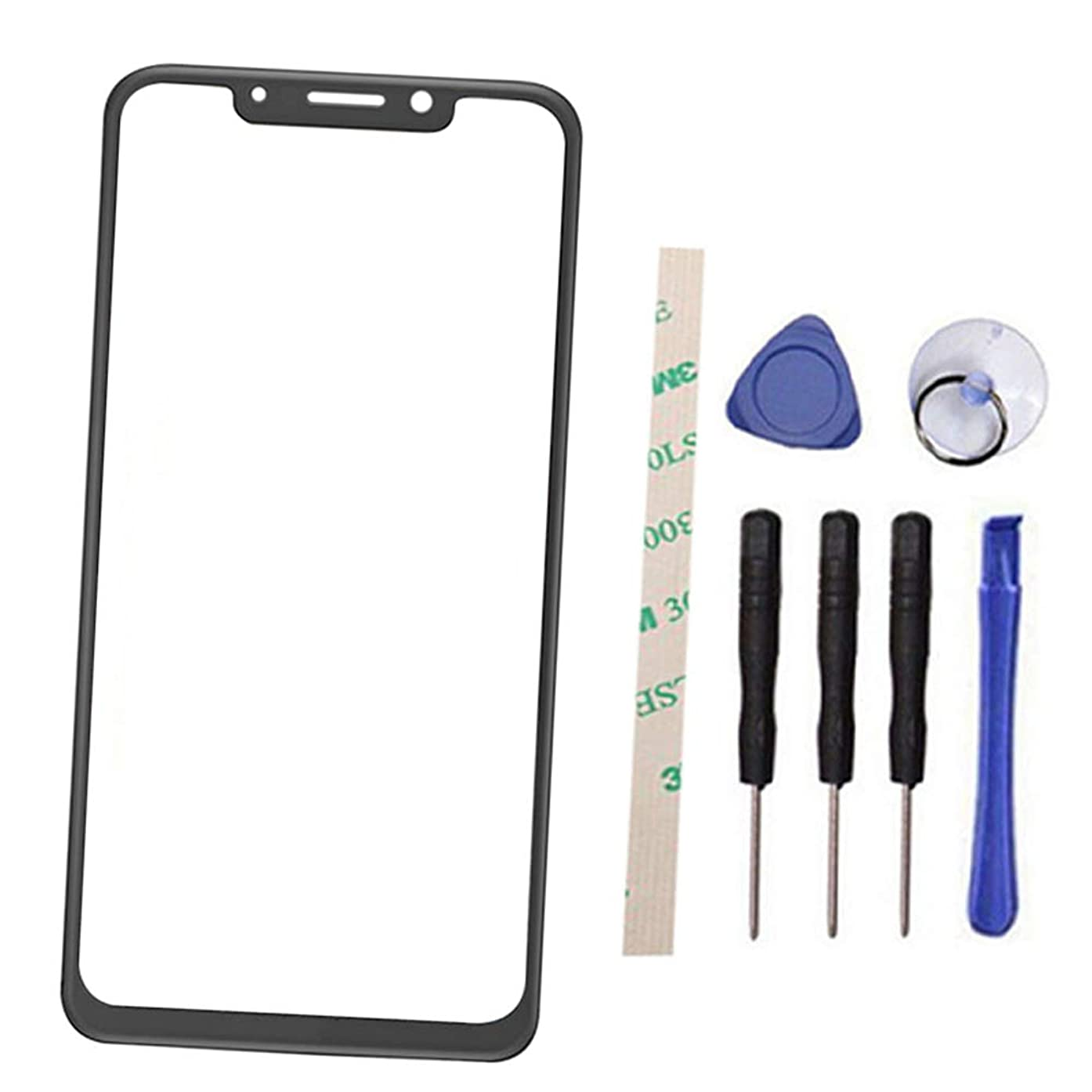 Outer Screen Front Glass Lens Replacement for Moto One XT1941-1 XT1941-3 XT1941-4 / P30 Play 5.9