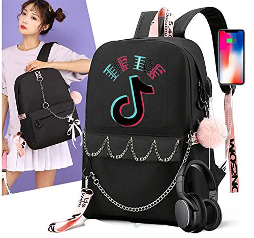 GDMXYD School Backpack 15.6', Slim Laptop Rucksack with USB Charging Port Anti Theft High School Computer Backpack Bag Water Resistant College Student Daypack for Girl/Boy/Teenagers