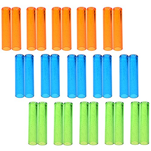 KLOUD City Pack of 30 Assorted Colors Plastic Pencil Cap Pencil Shield Pencil Extender Holder
