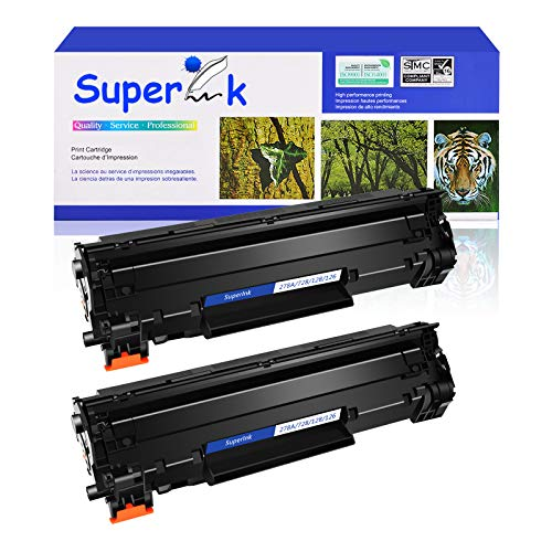 SuperInk Compatible Toner Cartridge Replacement for HP 78A CE278A to use with HP Laserjet P1606dn 1606dn M1536dnf P1560 P1566 P1606 P1606n Printer(Black, 2 Pack)