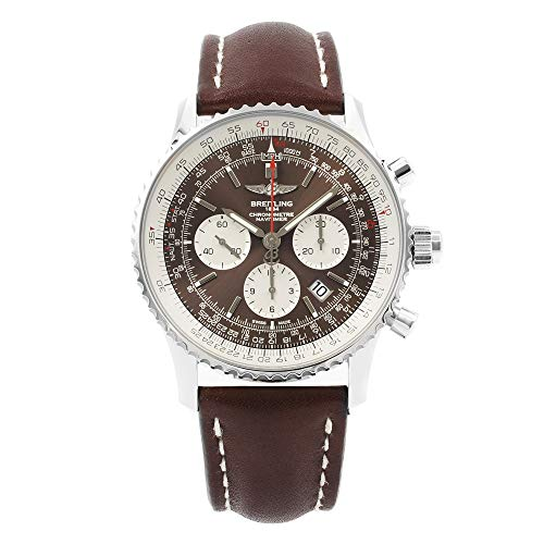 Breitling Navitimer 1 Rattrapante 45 Brown Dial Mens Watch AB031021/Q615-443X