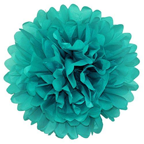 Simplydeko Pompom | Deko Pom-Pom aus Papier | Papierkugel zur Hochzeit oder Party | Papierblume als Hochzeitsdeko | Seidenpapier Pompon | Türkis Mint | 30 cm