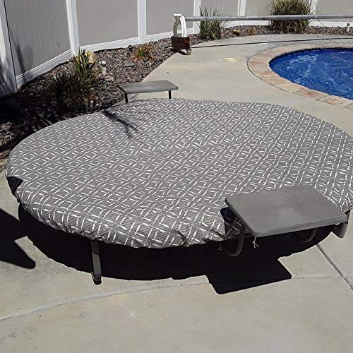 Outdoor Orbit Lounger Daybed Cover, Replacement Oval Daybed Cover with drawstring, Oval Sun bed replacement cover, COVER ONLY (daybed and cushion not included)