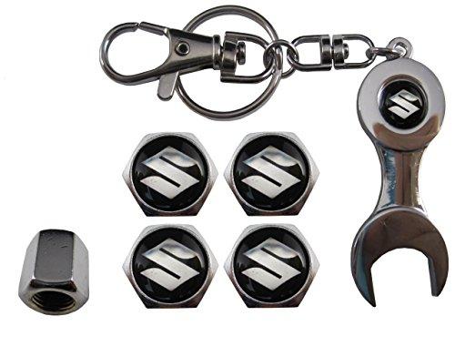 ETMA Llavero Metal + valvulas Compatible Suzuki Negro
