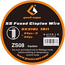 Geekvape 10feet SS316L Stainless Steel SS Fused Clapton Heating Coil Wire Winding Wire