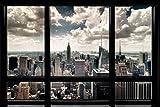 1art1 New York Poster - Fenêtre Qui Donne sur La Skyline (91 x 61 cm)