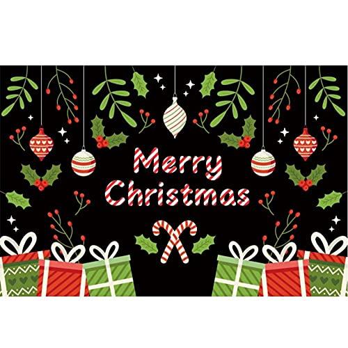 Feliz Navidad Regalo Fiesta Bola Cartel de Dibujos Animados Retrato Foto Fondo fotografía telón de Fondo Estudio fotográfico sesión fotográfica-180x120cm