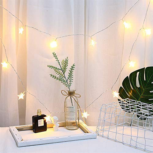 Big Save! GOTDCO. Star String Light,20 LED Fairy Starry Lamp with USB Charge,Romantic Curtain Light ...