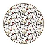 6 posavasos de taza con imagen y texto personalizables para inauguración de la casa, regalos de anfitriona, registro de boda, decoración de habitación, patrón de hongos silvestres pintado a mano
