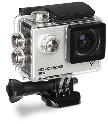 Kitvision Escape 4K Action Camera Ultra High Definition Action Camera with Wi Fi and Mounting Accessories 120 fps12 MP Waterproof Up to 30 m 2 Inch LCD Display and High Quality Microphone