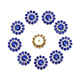 10 Uds Botones de Diamantes de imitación de Flores para decoración de Boda Botones Vintage Ropa Costura Perla Horquilla DIY joyería Artesanal