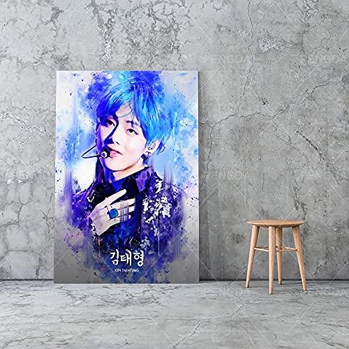 Puzzle 1000 Piezas Hermoso niño Graffiti BTS Pintura Coreana Imagen Retro Cantante Estrella Puzzle 1000 Piezas clementoni Juego de Habilidad para Toda la Familia, Colorido jue50x75cm(20x30inch)