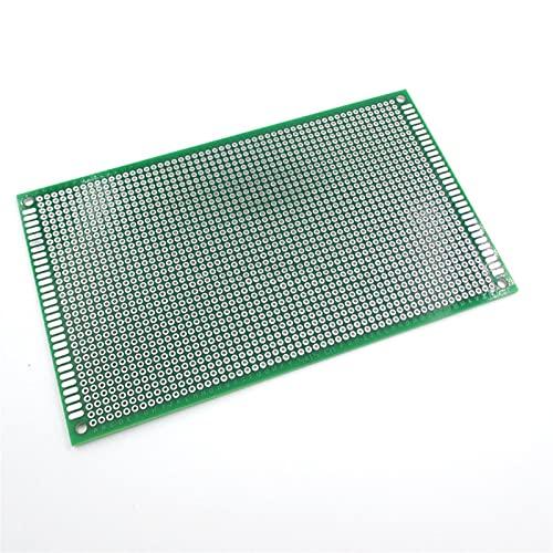 Shuxiang-Placa PCB PCB de fibra verde de vidrio lateral universal, tono de agujero estándar 2.54mm, tabla de soldadura sin soldadura, prototipo de placa de pan de 9x15cm Para proyecto electrónico
