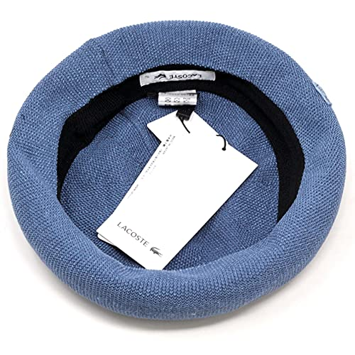(ラコステ)LACOSTEニットベレーサマーベレーベレーベレー帽サーモニットberet日本製春夏57cmブルー