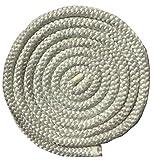 "Aboniris 3/8"" Wood Stove Door Gasket, Round Fiberglass Rope Seal, White, Length 86"