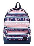 Roxy Sugar Baby Mochila Pequeña, Mujer, Verde/Blanco (Bright White AX Boheme Border), 16 l