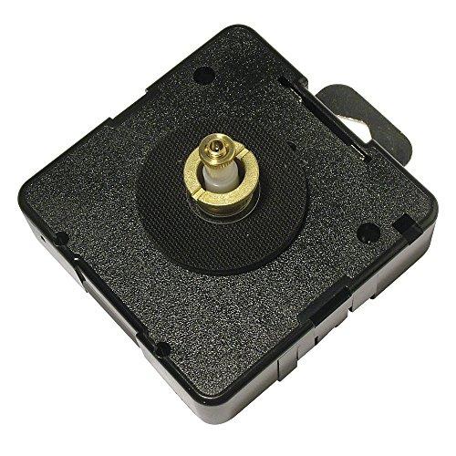Rayher 8930200 Quarz-Uhrwerk, 16,2 mm Achse, für Zifferblätter, Wanduhr selbst gestalten, zum Basteln