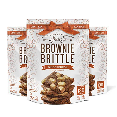 Brownie Brittle Holiday Gingerbread 3 ct./4 oz., red