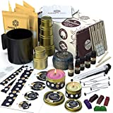 Soy Candle Making Kit for Adults (83 Pcs) - DIY Arts and Crafts for Adults and Teens - Supplies Include Wax, Fragrance Oils, Tins, Melting Pot, More - Make Your Own Scented Candles by Pebble & Stem