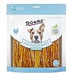Dokas - Snack prémium sin Cereales en Tiras para Perros, Ideal para Entre...