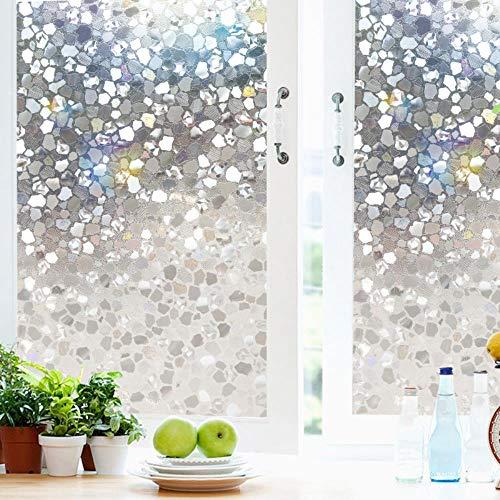 Película de privacidad de ventana 3D para ventanas estáticas de vinilo para ventanas de vidrio y control de calor anti UV