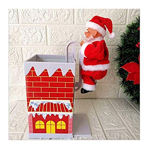 Luxury & Trendy 2019 Trend Christmas Decorations Santa Claus Climbing Chimney Toy