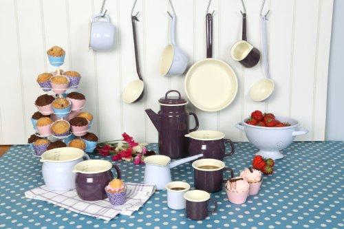 Vintage Home Mokkakanne, Kaffeekanne für Mokka, 400ml, emailliert, Taubengrau - 4