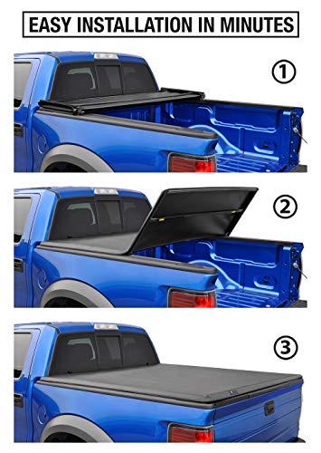 "Tyger Auto T3 Soft Tri-Fold Truck Bed Tonneau Cover for 2004-2007 Chevy Silverado/GMC Sierra 1500 2007 Classic ONLY Fleetside 5'8"" Bed TG-BC3C1008, Black"