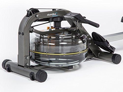 skandika SF-1750 Nemo Wasser-Rudergerät mit justierbaren Flüssigkeitswiderstand für gelenkschonendes Training und LC-Display - 4