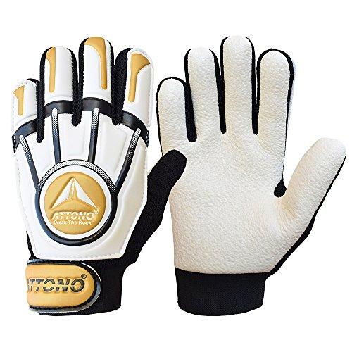 ATTONO Kinder Torwarthandschuhe Safe Defence Junior Torwart Handschuhe (4)