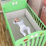 Swiftt Kinder Baby Bettumfang Waschbar Stoffumrandung Nestchen Bettumrandung Universal Antikollision Bettwäsche Vorhang für Kinderbettchen,für Neugeborene (70 x 140 x 30 cm)