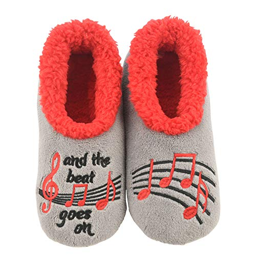Snoozies M Musical Notes Simply Pairables Size XLarge Grey