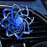 Deodorante per auto a doppia elica, diffusore per aromaterapia con presa d'aria dal design unico Spin, decorazione per diffusione di aromi per auto a forma di fiocco di neve in lega di ragno (A)