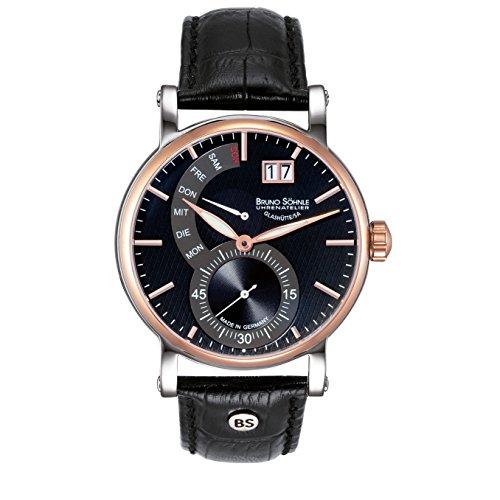 Bruno Söhnle da uomo orologio da polso analogico al quarzo in pelle 17–63073–747