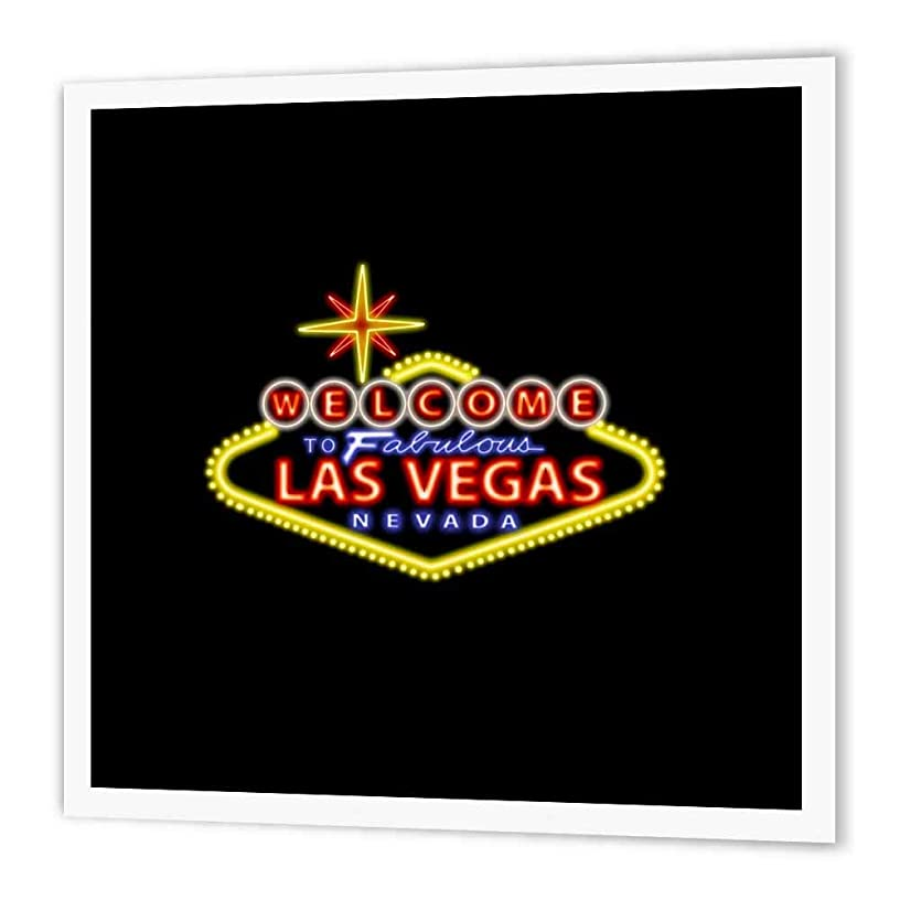3dRose ht_123044_3 Welcome to Fabulous Las Vegas Nevada Iron on Heat Transfer Paper for White Material, 10 by 10