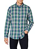 Photo de GANT D1. Windblown Oxford Check Reg BD Chemise, Kelly Green, L Homme