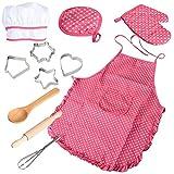 Küche Spielzeug für Kinder Chef SetCooking Backen Anzug Spielzeug Set PretendClothes Schürze Handschuhe Kinder-Küche-Geschenk für Mädchen Spielzeug