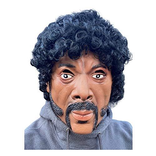 Samuel L Jackson, mscara de ltex, pulpa, icono de culto, estrella de cine, mscaras de disfraces